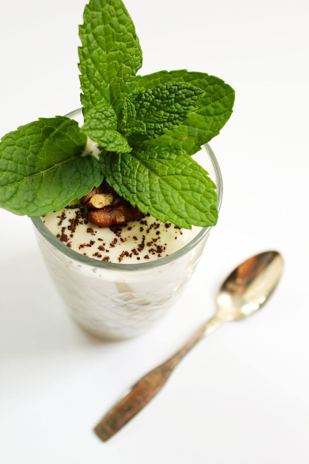 coffee and mint parfait